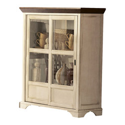 Homelegance - Homelegance Ohana 46 Inch Curio in White - The design of Ohana collection captures the essence of a casual country home. Its antique white and warm cherry, or antique black and warm cherry finishes give it a striking 2-toned appearance.