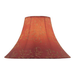 Lite Source - Red Jacquard Bell Shade - 7in.Tx18in.Bx12.50in.Sh - Red Jacquard Bell Shade - 7 in. Tx18 in. Bx12.50 in. Sh