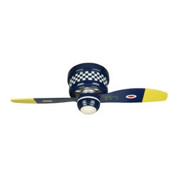 "Craftmade WB242BS 42-Inch Hugger Warplane Ceiling Fan with Light Kit - Additional 10% Discount: Coupon code ""Houzz"""