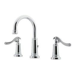 "Price Pfister - Price Pfister Ashfield Widespread Chrome  Lavatory Faucet GT49-YP0C - Price Pfister ""Ashfield"" Widespread Lavatory Faucet With Pop-UP."
