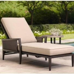 Greystone Patio Chaise Lounge, Sparrow - Ahh, a relaxing moment (or two) in this chaise lounge is calling my name. There are also many more patio pieces in this collection that are simply gorgeous.