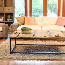 eclectic living room by Woodland Creek Furniture
