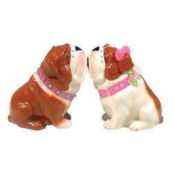 WL - 3 Inch Brown/White Spotted Bulldogs Kissing Salt and Pepper Shakers - This gorgeous 3 Inch Brown/White Spotted Bulldogs Kissing Salt and Pepper Shakers has the finest details and highest quality you will find anywhere! 3 Inch Brown/White Spotted Bulldogs Kissing Salt and Pepper Shakers is truly remarkable.