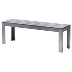modern outdoor stools and benches by IKEA