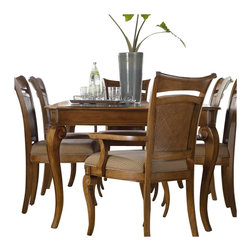 Hooker Furniture - Hooker Furniture Windward Rectangular Leg Dining Table with Leaf Brown Cherry - Hooker Furniture - Dining Tables - 112576200 - Envision furniture with a relaxed and laid back feeling.