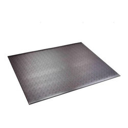 SuperMat Home Gym Mat - Keep your home gym safe soundproof clean and stable with the SuperMat Home Gym Mat. This mat is made durable PVC which is easy to clean long-lasting noise-reductant odor-free and super safe thanks to its non-slip grip. A magic mat perfect for any home gym this mat is designed for use under weight machines free weights and other workout equipment. About SuperMats Based in Minnesota SuperMats is dedicated to creating commercial-grade flooring solutions for fitness anti-fatigue and agricultural applications. They use high-quality rubber and PVC to create products both large and small that easy to maintain simple to use and significantly benefit the user. You'd be surprised where you'll find a SuperMat handy!