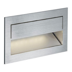 Nimbus - Nimbus Mike India 50 Accent long wall recessed light - The Mike India 50 Accent long wall recessed light was designed and made by Nimbus in Germany. This modern LED fixture is an efficient and elegant lamp that perfectly suitable for an installation near the ground, for home or office. The light output of the Mike India 50 is distributed 100% directly but asymmetrically with a radiation angle of approximately 45 . The fixture has an elegant profile in in brushed stainless steel. Multiples conic identations, ultra-modern LED provide a total power of 3 watts integrated in the luminaire and spread a light output which is equivalent to the power of a 40 watts halogen bulb. The lamp is available in color temperatures of 2700 Kelvin (extra - warm white) 3000K (warm white) and 4000 Kelvin (neutral white). Also the Mike India 50 lamp is available in two versions, for cavity mounting or for flush-mounted installation kit. An external converter is requiered and not included in the package - please order separately.         Product Details: The Mike India 50 Accent long wall recessed light was designed  and made by Nimbus in Germany. This modern LED  fixture is an efficient and  elegant lamp that perfectly suitable for an installation near the ground, for home or office. The light output of the Mike India 50 is  distributed 100%  directly but asymmetrically with a radiation angle of approximately 45 .  The fixture has an elegant profile in in brushed stainless steel. Multiples conic identations, ultra-modern LED provide a total power of 3 watts integrated in the luminaire and spread a light output which is  equivalent to the power of a 40 watts halogen bulb. The lamp is available in color temperatures of 2700 Kelvin (extra - warm white) 3000K (warm white) and 4000 Kelvin (neutral white). Also the Mike India 50 lamp is available in two versions, for cavity mounting or for flush-mounted installation kit. An external converter is requiered and not included in the package