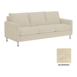 Apt2B - Olympic Sofa, Buckwheat - The Olympic Sofa Collection is a modern take on a classic. With clean lines, sharp features and stylish chrome legs, it's a great addition to any room it's in.