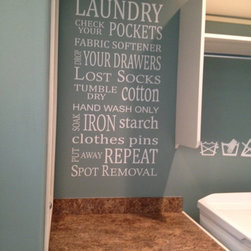 Laundry Subway Art Vinyl Wall Phrase By Vinyl Wall Decor And More - My laundry room has bare walls, but not for long. I love subway art and I love this piece from Etsy. It's a great way to make my laundry room a little bit more fun.