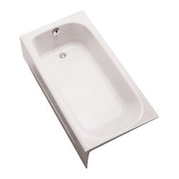 "Toto - Toto FBY1515RP Cotton White Enameled Cast Iron Bathtub - Toto FBY1515RP#01 is a rectangular enameled cast iron soaking bathtub from Toto USA products. Right Hand drain and front with dimensions of 59 3/4"" x 30"" x 14 11/16"" for a more luxurious bathing experience. The Toto FBY1515RP#01 is built from durable cast iron for long lasting looks and function and has an anti-slip surface for safety. The Toto FBY1515RP#01 is Cotton White."