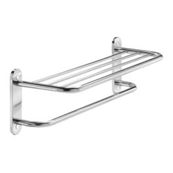 Taymor Chrome 24in.Towel Shelf with Single Bar and Semi-Concealed Screw Mount