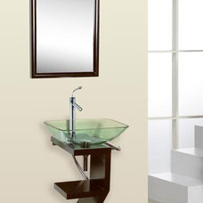 Contemporary Bathroom Vanities And Sink Consoles Contemporary Glass Vanity
