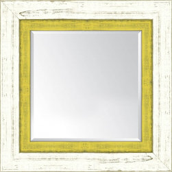 French White and Yellow - Reseller Mirrors Wall Décor Frames by Iconic Pineapple - Product Line: Iconic Pineapple