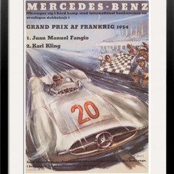 Artcom - Mercedes Benz by H. Liskars - Mercedes Benz by H. Liskars is a Framed Art Print set with a SOHO Black wood frame and a Crisp - Bright White mat.