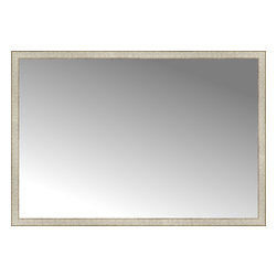 "Posters 2 Prints, LLC - 64"" x 44"" Libretto Antique Silver Custom Framed Mirror - 64"" x 44"" Custom Framed Mirror made by Posters 2 Prints. Standard glass with unrivaled selection of crafted mirror frames.  Protected with category II safety backing to keep glass fragments together should the mirror be accidentally broken.  Safe arrival guaranteed.  Made in the United States of America"