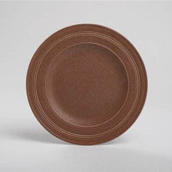 Tag Everyday - Paragon Salad Plate - Set of 4 - Brown - Includes 4 salad plates. High quality, durable porcelain. Unique speckled, matte glaze in colors . Embossed concentric circles add modern touch to classic shapes. Dishwasher safe/may get hot in microwaveColor: Brown. 8.5 in. dia