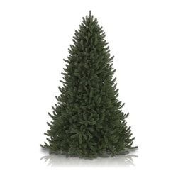 "Balsam Hill - 10' Balsam Hill® Vermont White Spruce Narrow Artificial Christmas Tree - The Vermont White Spruce� is one of our most popular & lifelike artificial Christmas trees. In fact, it is the only artificial tree in our entire collection that is offered with the widest variety of sizes, lights & shapes. The 10 foot classic unlit version of the Vermont White Spruce� comes with a scratch-proof tree stand, soft cotton gloves for shaping and handling the tree, and an off-season storage bag. As the best artificial Christmas tree manufacturer that is the #1 choice for set designers for TV shows such as ""Ellen"" and ""The Today Show"", in addition to being a recipient of the Good Housekeeping Seal of Approval, our trees are backed by either a 10-year or 5-year foliage warranty (depends on the size of the tree) and a 3-year light warranty. Free shipping when you buy today!"