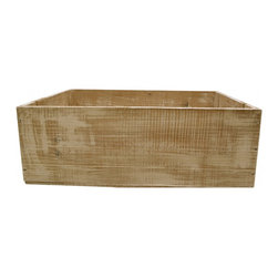 Wine Crate - Vintage wood wine crate from Chateau Grand Mayne Vineyards, St. Emilion France in distressed white finish.
