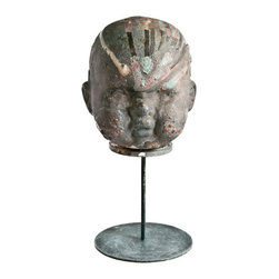 Salvatecture Studio - Vintage Bronze Doll Head Factory Mold On Stand - Doll up a room with this vintage mold. You can see that this was actually used in factories and this piece will certainly get people talking, whether you opt to put it in an office or workshop or wherever.