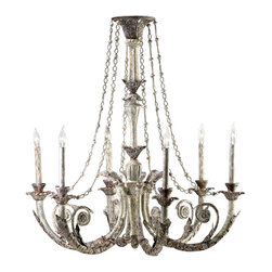 Cyan Design - Six Lamp Chandelier-6491-6-28 - Six lamp chandelier - parisian white