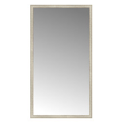 """Posters 2 Prints, LLC - 43"""" x 79"""" Libretto Antique Silver Custom Framed Mirror - 43"""" x 79"""" Custom Framed Mirror made by Posters 2 Prints. Standard glass with unrivaled selection of crafted mirror frames.  Protected with category II safety backing to keep glass fragments together should the mirror be accidentally broken.  Safe arrival guaranteed.  Made in the United States of America"""