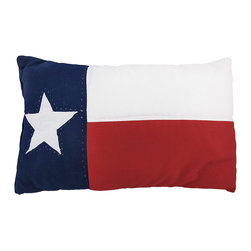 Zeckos - Texas Flag 12 in.  X 18 in. Throw Pillow Texan Lone Star - This 12 inch by 18 inch super soft Texas flag accent pillow is perfect for accenting decor on couches, chairs and beds. The pillow has a soft, 100% cotton exterior and polyfill inside. It makes a great gift for anyone who wants to show off their Texan pride. We have a limited supply of these, so don`t miss out