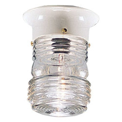 Progress Lighting - Progress Lighting P5603-30 Utility Lantern 1 Light Outdoor Ceiling Light - Progress Lighting P5603-30 Utility Lantern 1 Light Outdoor Ceiling Light In White