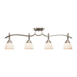 Kichler Lighting - Kichler Lighting 7703AP Olympia Contemporary Track Light In Antique Pewter - Kichler Lighting 7703AP Olympia Contemporary Track Light In Antique Pewter