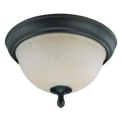 "Nuvo Lighting - Nuvo Lighting 60-2789 Bella 2-Light 11"" Flush Dome with Biscotti Glass - Nuvo Lighting 60-2789 Bella 2-Light 11"" Flush Dome with Biscotti Glass"