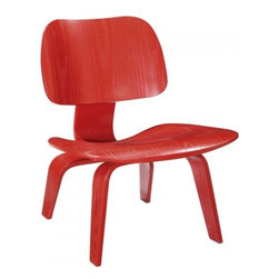 "Serenity Living Stores - Eames Style LCW Plywood Chair, Red - This item is not an original Charles & Ray Eames product, nor is it manufactured by or affiliated with Herman Miller.                                                                                                                                         Overall Dimensions: 27.2"" H x 21.6"" W x 22.4"" D"