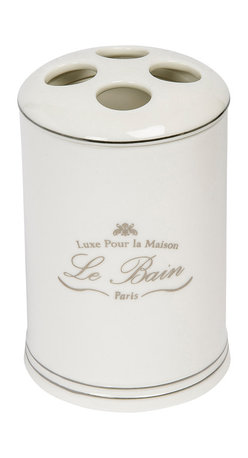 Kassatex - Kassatex Le Bain Collection Tooth Brush Holder - Consider it a sort of adult tooth fairy. Every time you reach for your toothbrush, this holder will reward you with visions of Paris.