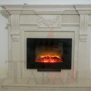 Electrical Fireplace With Marble Frame -