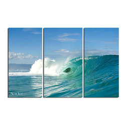 "READY2HANGART.COM - Nicola Lugo 'Wave Break'  20x48-inch Canvas Wall Art (3-piece Set) - Renowned Surf Photographer Nicola Lugo, takes you behind the lens of his travels worldwide. This photograph is offered as part of a limited ""Home Decor"" line, being the perfect addition to any living or work space."