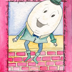 Oh How Cute Kids by Serena Bowman - Humpty Dumpty, Ready To Hang Canvas Kid's Wall Decor, 11 X 14 - Each kid is unique in his/her own way, so why shouldn't their wall decor be as well! With our extensive selection of canvas wall art for kids, from princesses to spaceships, from cowboys to traveling girls, we'll help you find that perfect piece for your special one.  Or you can fill the entire room with our imaginative art; every canvas is part of a coordinated series, an easy way to provide a complete and unified look for any room.