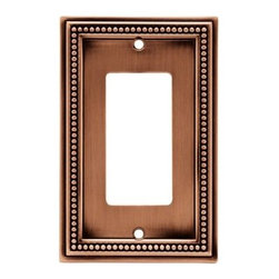 Liberty Hardware - Liberty Hardware 64242 Beaded WP Collection 3.19 Inch Switch Plate - A simple change can make a huge impact on the look and feel of any room. Change out your old wall plates and give any room a brand new feel. Experience the look of a quality Liberty Hardware wall plate. Width - 3.19 Inch, Height - 5 Inch, Projection - 0.3 Inch, Finish - Aged Brushed Copper, Weight - 0.28 Lbs.