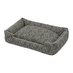 Jax & Bones - Jax & Bones Cotton Blends Lounge Bed Creek Medium - The Jax and Bones cotton blends lounge bed is perfect for your dog for lazing around, snuggling, curling into, and leaning against. The warmth and extra reassurance this bed provides lets your dog remain comfortable and happy. With extremely unique range of designs, these beds are easy to maintain and made from the highest quality material especially considering we use an eco-friendly fiber called Sustainafill.  A diverse selection of heavy weight fabrics that are machine washable and luxurious to the touch. Most of these fabrics carry a texture that will create a uber luxurious upholstery feeling dog bed. Great for medium to high traffic use and homes that want a more unique design. Machine washable, low heat tumble recommended! 100% Machine Washable and filled with Sustainafill, an eco-friendly fiber.