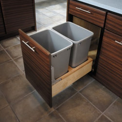 Fieldstone, where Form meets Function - Hidden trash & recycle cans