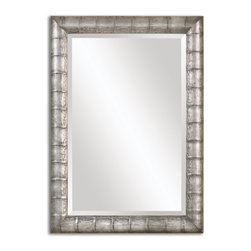 """Uttermost - Uttermost Anselm Silver Mirror 14492 - Frame has a heavily burnished silver finish. Mirror features a generous 1 1/4"""" bevel. May be hung horizontal or vertical."""