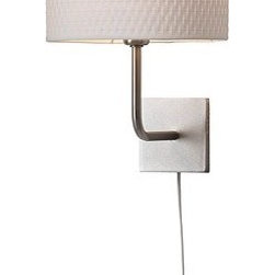 IKEA of Sweden - ALÄNG Wall lamp - Wall lamp, nickel plated, white