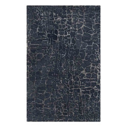 Surya - Banshee Sapphire Blue Rectangular Area Rug - This sumptuousBanshee Sapphire Blue Rectangular Area Rug will instantly elevate your home decor. With its high quality construction, the rug is loomed in 100% wool. The rug has plush pile for maximum softness and stunning Sapphire Blue with Parchment coloring for appeal.