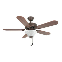 "Builder's Collection - Oil Rubbed Bronze 42"" Ceiling Fan w/ Light Kit - Motor Finish: Oil Rubbed Bronze"