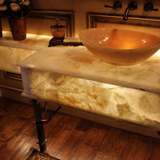 Traditional Powder Room by Granite and Marble Designs