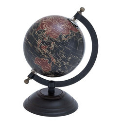 Benzara - Elegant Metal Wood Globe with Contemporary Elegance - This Metal Wood Globe is a perfect match for different decor styles. Elaborately crafted with great attention to details, this elegant decor piece perfectly combines traditional designs with contemporary elegance and is sure to garner attention. Designed with a solid metal base, this globe can be easily placed on tables to lend a look of sophistication and verve to simple decor styles. High grade wood used in the construction of the globe is intricately detailed with a world map in rich, vibrant colors to lend a distinct touch to design aesthetics. Made from a combination of wood and metal, this stylish globe can be used in study rooms, formal places, conventional or modern room settings. It is durable and offers a long lasting use.