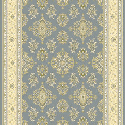 "Rugs America Corp. - Rugs America Corp. Rug, Light Blue, 2'x2' 11"" - Ancient royalty meets modern technology with the creation of Verona by Rugs America. Sophisticated and elegant traditional patterns have been redeveloped in a fine machine woven quality to satisfy the most advanced decorative tastes without having to spend a fortune. Superbly dense, plush, rich and durable, the Verona collection is a floor covering masterpiece developed with unprecedented taste and elegance.   Made in Turkey with extra durable synthetic fibers for long lasting sustainability."