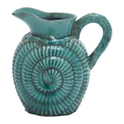 """Benzara - Classic Ceramic Pitcher Accented and A Distinctive Pattern - Classic Ceramic Pitcher Accented and A Distinctive Pattern. It is perfect for serving all kinds of liquids during dinners, gatherings, or even parties, and ensures versatile use. It comes and following dimensions 11""""W x 9""""D x 11""""H."""