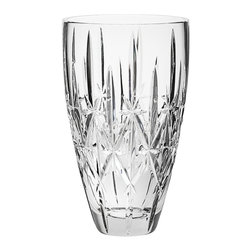 Marquis by Waterford Sparkle 9-Inch Vase - Fresh flowers and evergreens will definitely make your party warm and inviting, especially when they're in a beautiful crystal vase like this one.
