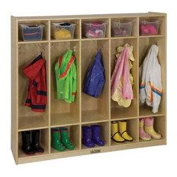 Ecr4kids - Ecr4Kids Home Indoor Kids Room 5-Section Coat Locker - Straight (Birch) - 5-Section Coat Locker (Straight)