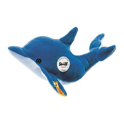 Steiff - Steiff Plush Clippy Dolphin - Bring the ocean to you! Steiff Clippy Dolphin is made of cuddly soft blue plush. Ages 3 and up. Handmade by Steiff of Germany.