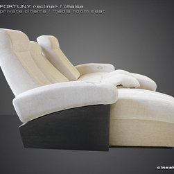 FORTUNY Chaise & Recliner luxury seats. - REDEFINING CUSTOM THEATER SEATING