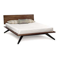 Copeland Furniture - Copeland Furniture Astrid California King Bed with 1 Headboard Panel 1-AST-25-14 - A true platform bed, Astrid may be ordered without or with 1 or 2 headboard panels. Recommended mattress thickness is 8' to 12'. The collection is crafted in solid cherry hardwood.
